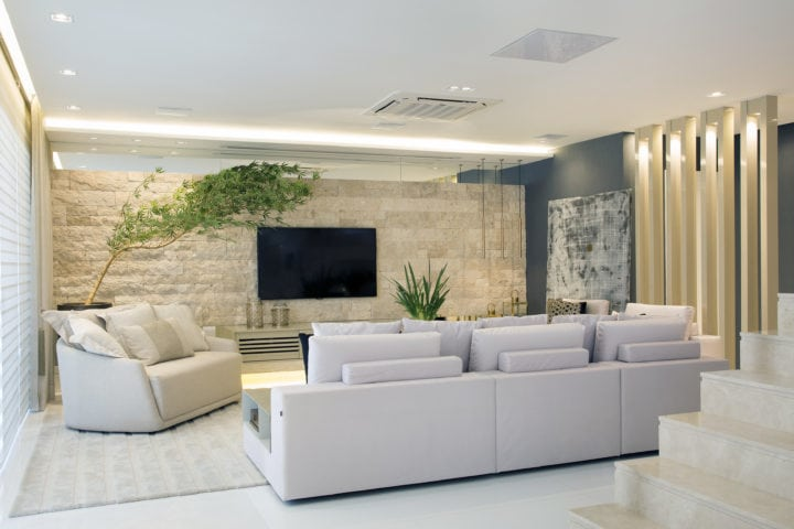 sala de estar projetada por Patricia Franco e Claudia Pimenta