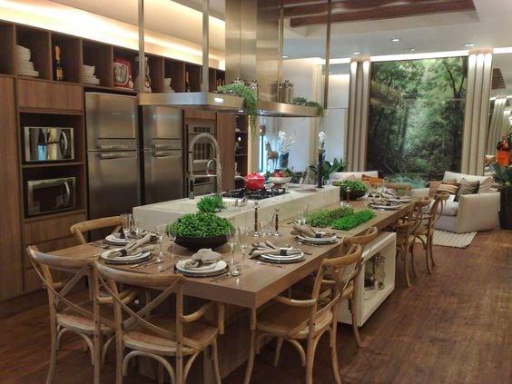 Super ilha , para receber os convidados enquanto cozinha. Nada mais perfeito!