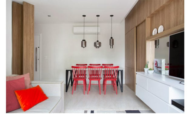 Fabiano Ravaglia assina apartamento com cara de casa em 55 m2
