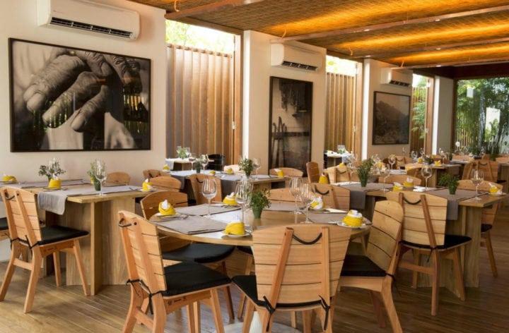 restaurante da Pousada Literária em Paraty