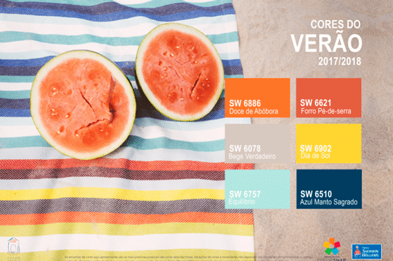 A energia das cores do verão, por Tintas Sherwin-Williams.