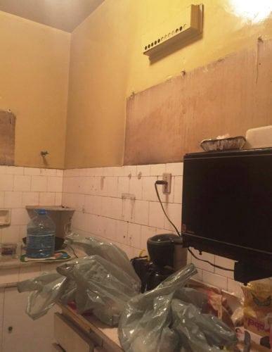 A cozinha fechada ha 5 anos, antes do Home Staging