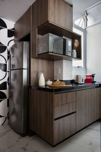 cozinha assinada por arquiteto Mauricio Rebello e pelo engenheiro Getúlio Evangelista.