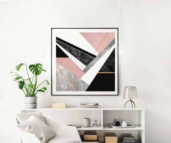 Arte LINES AND LAYERS 1 de Elisabeth Fredriksson impressa em canvas com 90x90cm por 1.219 reais na URBAN ARTS: