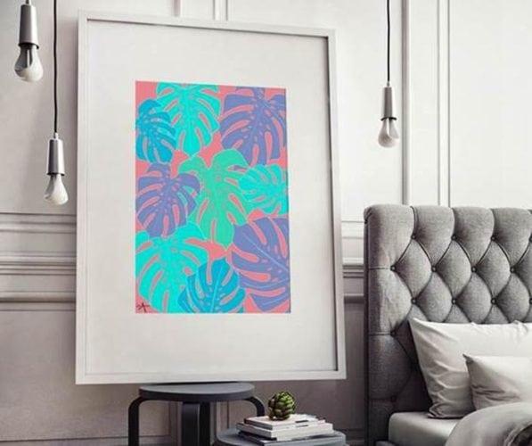 Arte FOLHAGEM NEON de Ysa Yule impressa em pôster filete com 47,5X62,5cm por 329 reais na URBAN ARTS: