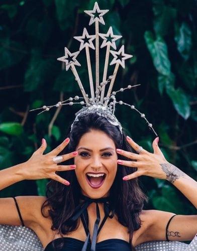 Fantasia de Carnaval, arco de cabeça com estrelas.