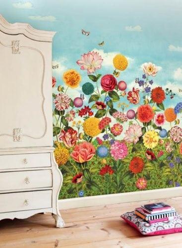 Painel de parede Wild Flowerland, da marca holandesa PIP Studio