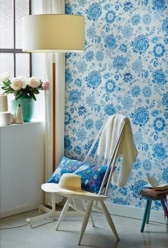 Papel de parede Folklore Chintz Light Blue, da marca holandesa Pip Studio