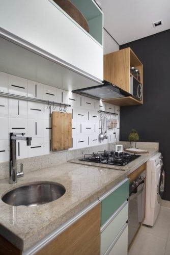 cozinha do apartamento na gloria de fabiano ravaglia