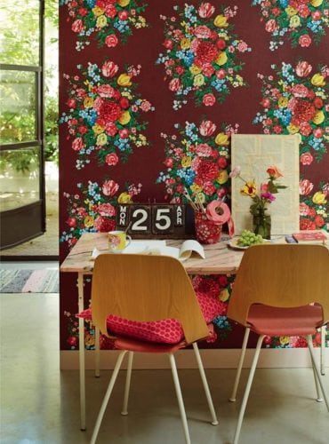 Papel de parede Dutch Painters Burgundy, da marca holandesa PIP Studio