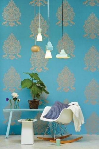 Papel de parede PIP for President Light Blue, da holandesa Pip Studi