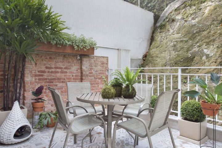 varanda do apartamento na gloria por Fabiano ravaglia