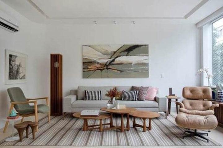 Sala do apartamento de Bianca da Hora em Ipanema