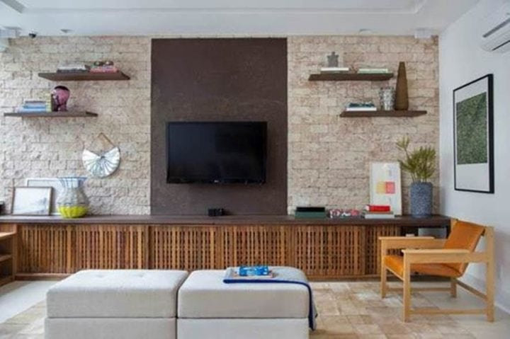 Sala de tv projetado por Bianca da Hora