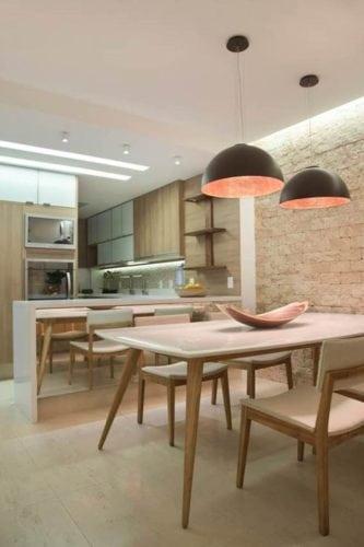 Sala de jantar projetada por bianca da hora