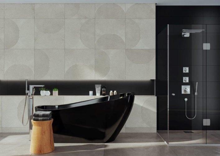 Outros lançamentos da Cerâmica Portinari deste ano são os produtos da coleçãoDom. Inspirada na cor do cimento