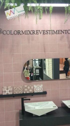 Colormix Revestimentos, Azulejos Rosa com ar retrô.