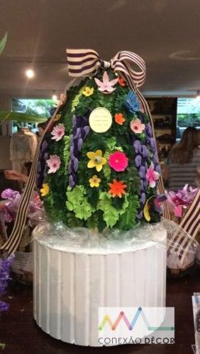 Inspiração e super dicas para a sua decoração de Páscoa. Ovo de Páscoa florido da Isabella Suplicy