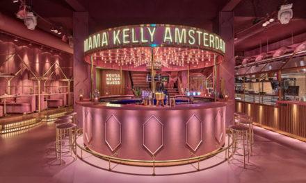 Décor Pink total em um restaurante em Amsterdã