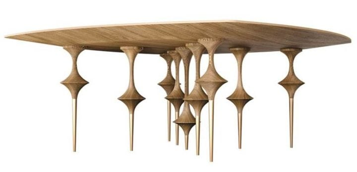 mesa de jantar bailarina no arquivo contemporâneo