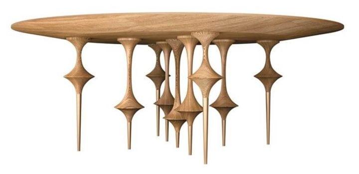 mesa de jantar redonda bailarina no arquivo contemporaneo