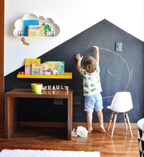 Inspirações para decorar usando lousa. Decorando o quarto das crianças, tornando o espaço lúdico.