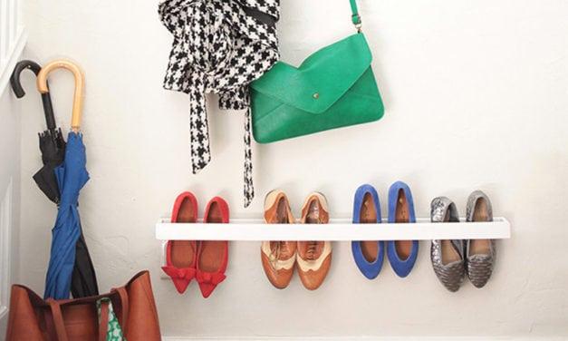 Arrumando os sapatos: inspirações de sapateiras.