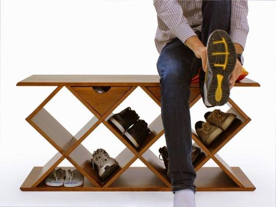 Sapateira banco, Sapateiras para organizar os sapatos;