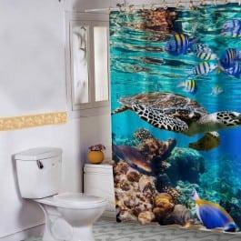 cortina de banheiro da adesivaria