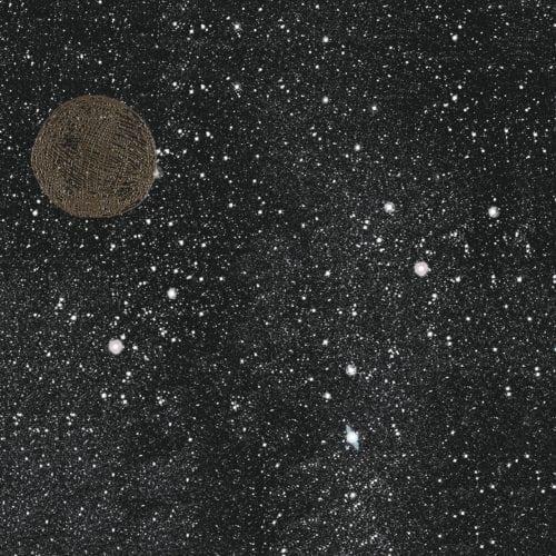 Noites estreladas e cinema inspiram coleção dos Irmãos Campana para marca de revestimentos cerâmicos. Porcelanato com fundo preto, com estrelas e planeta