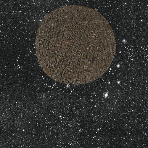 Noites estreladas e cinema inspiram coleção dos Irmãos Campana para marca de revestimentos cerâmicos.Porcelanato com fundo preto, com estrelas e planeta.