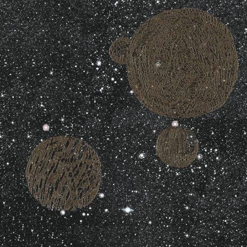 Noites estreladas e cinema inspiram coleção dos Irmãos Campana para marca de revestimentos cerâmicos. Porcelanato com fundo preto e estrelas e planetas