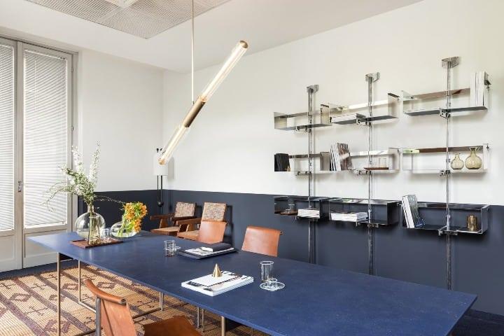 David Lopez Quincoces e Fanny Bauer Grung olharam para a tradição italiana para a sala de reunião nos escritorios da Vogue