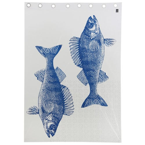 Cortina com peixes estampados da tokstok