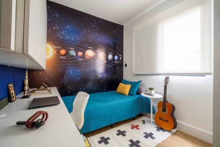 quarto do menino no apartamento assinado por SP Estudio
