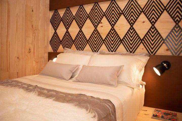 quarto do casal da casa sustentável da leroy merlin no casacor sp