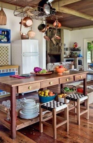 Decorando com os signos, a casa do Taurino. Cozinha aconchegante, de fazenda.