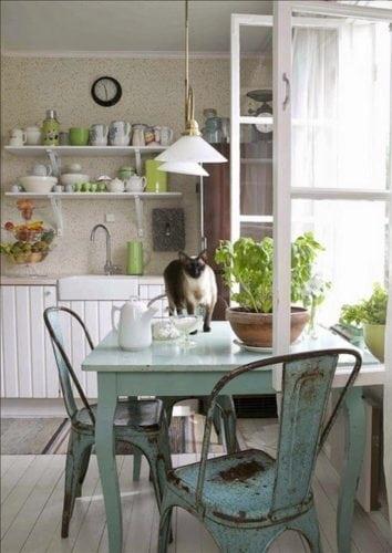Decorando com os signos, a casa do Taurino. Cozinha clara, aconchegante.
