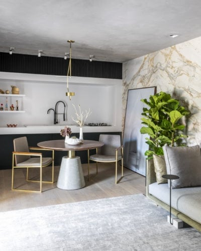 cozinha do ambiente de Erica Salguero para CasaCor SP 2018