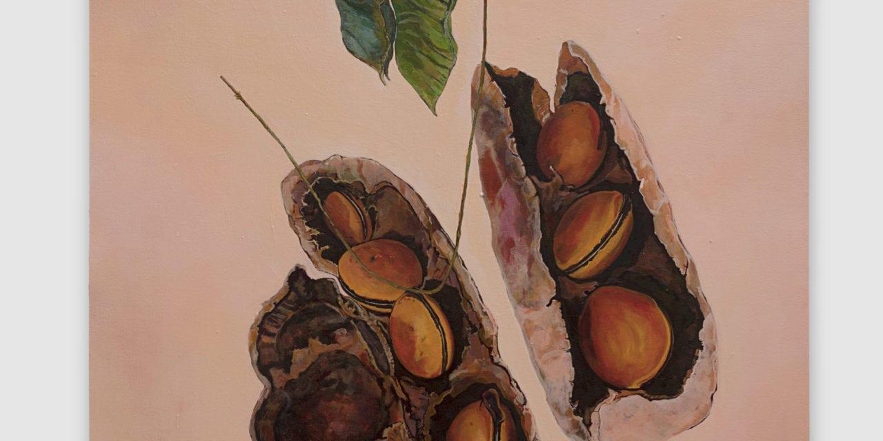 Graziela Pinto pinta a natureza de rosa em mostra na Galeria Movimento