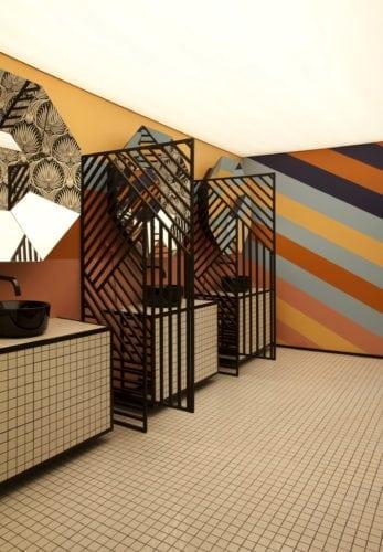 Parede do banheiro da Piloni Arquitetura para CasaCor SP