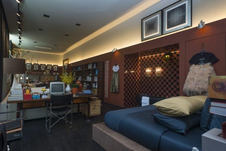 Michel Safatle apresenta Loft Eu, Tu e Elas na CasaCor SP. Ambiente integrado com sala, cozinha e quarto.