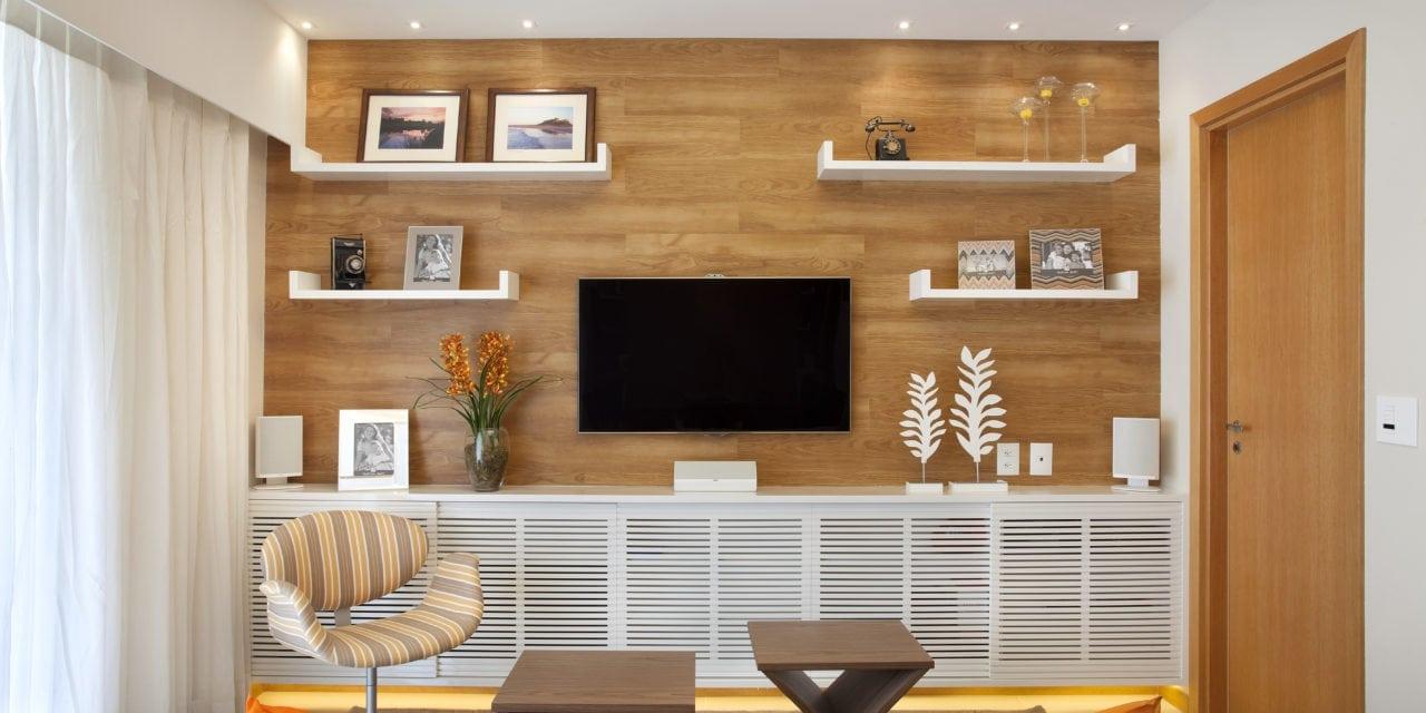 Sala de estar clean, por Cyntia Sabat