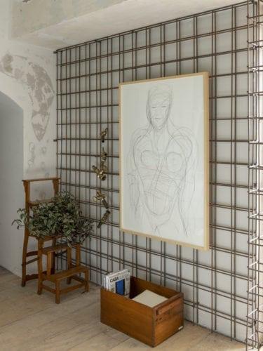 Grafite de Gal Oppido, intitulado como 'Desenho Vidro' na cozinha matriz da Triart Arquitetura para CasaCor sp