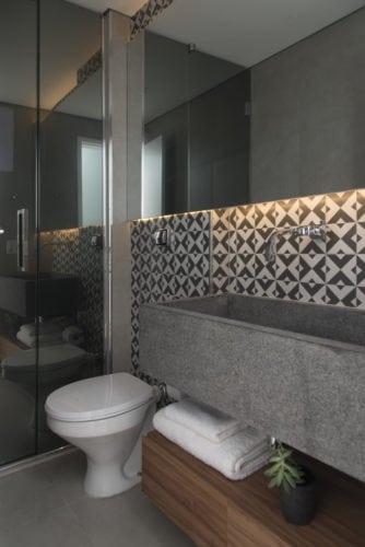 lavabo com granito assinado por Studio SP