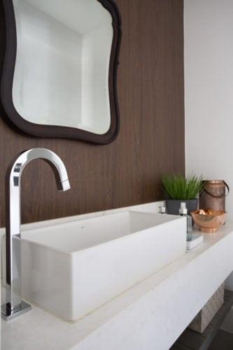 lavabo assinado por Bezamat Arquitetura e Fotos: Denilson Machado - MCA Estúdio