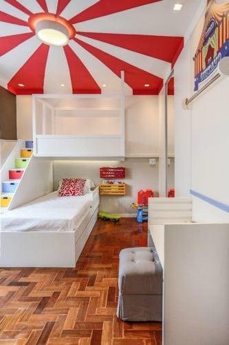 Decoração de quarto de criança, tem como inspiração, um Picadeiro.
