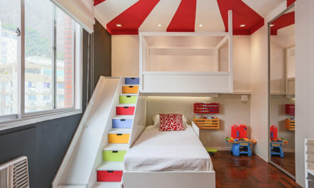 Decoração de quarto de criança, tem como inspiração, um Picadeiro