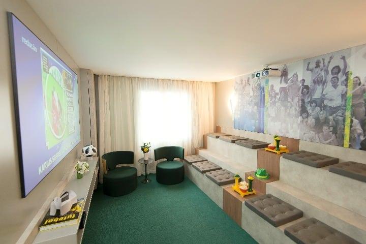 Jóia Bergamo assina suite no Grand Mercure SP Vila Olímpia, para a Copa do Mundo 2018 - Antessala