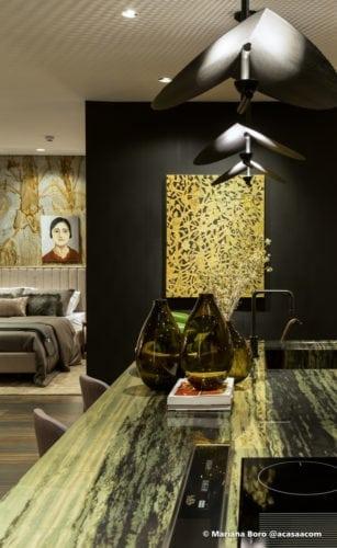 Detalhe da sala da Klaxon Arquitetura para CasaCor SC foto de Mariana Boro